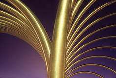 Geometrisch goud Royalty-vrije Stock Afbeelding