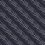 Geometrisch hand getrokken lineair naadloos patroon stock illustratie