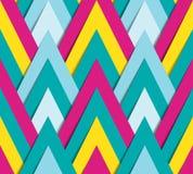 Geometrisch helder funky patroon Stock Afbeeldingen