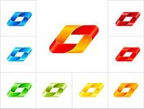 Geometrisch het ontwerpmalplaatje van het tekenembleem Stock Afbeeldingen