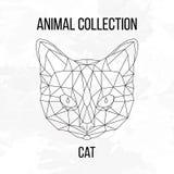 Geometrisch kattenhoofd Royalty-vrije Stock Afbeelding