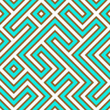 Geometrisch Labyrint Royalty-vrije Stock Afbeeldingen