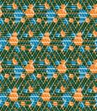 Geometrisch labyrint naadloos patroon, eindeloze illusive vectorbackgro Stock Afbeeldingen