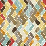 Geometrisch lapwerkpatroon Royalty-vrije Stock Afbeelding
