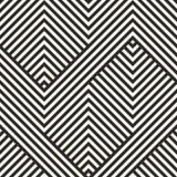 Geometrisch lijnenpatroon Abstract gestreept ornament Stock Foto