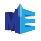 Geometrisch ME Logo Concept Royalty-vrije Stock Afbeeldingen