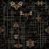 Geometrisch met wijnoogst Naadloos patroon Royalty-vrije Stock Foto's