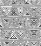 Geometrisch naadloos het herhalen patroon Kerstboom, overzichts lineaire stijl Stock Afbeeldingen