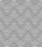 Geometrisch naadloos het herhalen patroon Kerstboom, overzichts lineaire stijl Royalty-vrije Stock Foto's
