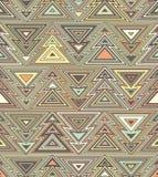 Geometrisch naadloos het herhalen patroon Kerstboom, overzichts lineaire stijl Stock Fotografie