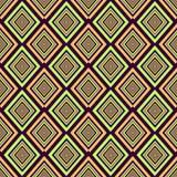 geometrisch naadloos patroon De diamanten, de vierkanten en de strepen in pastelkleur verzachten tonen Het kan als behang, docume stock illustratie