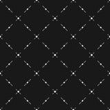 Geometrisch naadloos patroon, diagonaal net, punten, lijnen Royalty-vrije Stock Afbeeldingen