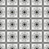 Geometrisch naadloos patroon, grijze vierkanten Stock Afbeeldingen