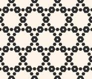 Geometrisch naadloos patroon met gevoelig hexagonaal rooster Stock Afbeelding
