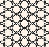 Geometrisch naadloos patroon met gevoelig hexagonaal rooster, netwerk Stock Foto