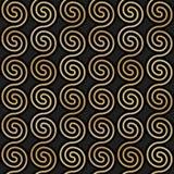 Geometrisch naadloos patroon met gouden spiralen Abstracte gouden metaaltextuur stock illustratie
