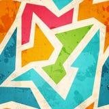 Geometrisch naadloos patroon met grungeeffect Stock Foto