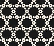 Geometrisch naadloos patroon met hexagonaal rooster zwart Stock Fotografie