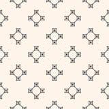 Geometrisch naadloos patroon met kruis Royalty-vrije Stock Afbeeldingen