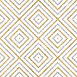 Geometrisch naadloos patroon van gouden zilveren diagonale lijnen of slagen Stock Foto