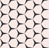 Geometrisch naadloos patroon, vector zwart-wit textuur Stock Foto