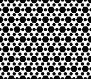 Geometrisch naadloos patroon, zwarte & witte zeshoekenachtergrond Stock Foto's