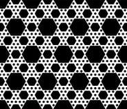 Geometrisch naadloos patroon, zwarte & witte zeshoekentextuur Royalty-vrije Stock Fotografie
