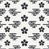 Geometrisch nationaal naadloos Aziatisch patroon behang Verpakkend document scrapbook Vector illustratie Achtergrond japan Stock Afbeeldingen