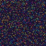 Geometrisch Net van Kleurrijke Cirkels van Verschillende Grootte op Donkere Bac stock illustratie