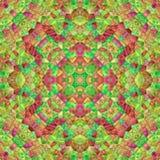 Geometrisch ontwerp, Mozaïek van een vectorcaleidoscoop vector illustratie