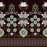 Geometrisch ornament voor het weven, het breien, borduurwerk, behang, kaarten, textiel Etnisch patroon Grensornament vector illustratie
