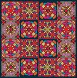 Geometrisch patroon, bont reeks stukken, Stock Fotografie