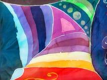 Geometrisch patroon de techniek van hete batik Royalty-vrije Stock Fotografie
