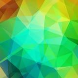 Geometrisch patroon, de vectorachtergrond van veelhoekdriehoeken in geel Royalty-vrije Stock Foto