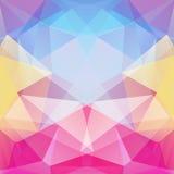 Geometrisch patroon, de vectorachtergrond van veelhoekdriehoeken in roze Royalty-vrije Stock Fotografie