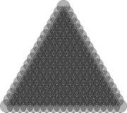Geometrisch patroon in de vorm van abstracte bloemen op witte achtergrond Stock Foto