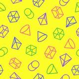 Geometrisch patroon die uit de stijl van de vormenrassenbarrière op yello bestaan Stock Foto's