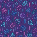 Geometrisch patroon die uit vormen en lijnen verschillende kleur bestaan Royalty-vrije Stock Afbeelding
