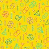 Geometrisch patroon die uit vormen en van de lijnenkleur stijl bestaan Royalty-vrije Stock Foto's