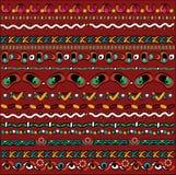 Geometrisch patroon, een reeks stukken op donkerrode achtergrond Stock Foto