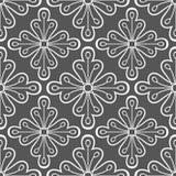 Geometrisch Patroon met Bloemen Royalty-vrije Stock Foto's