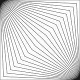 Geometrisch patroon met dunne diagonale lijnen in vierkante vorm vector illustratie