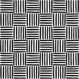 Geometrisch patroon met hand getrokken lijnen Stock Foto's