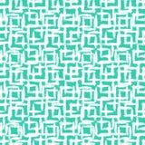 Geometrisch patroon met kleine hand geschilderde vierkanten vector illustratie