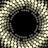 Geometrisch patroon Moderne textuurkroon in gouden kleur Kader van eenvoudig gestippeld ontwerp Abstracte achtergrond op de boekd Stock Foto