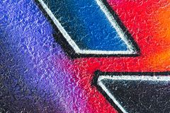 Geometrisch patroon op ruw beton royalty-vrije illustratie