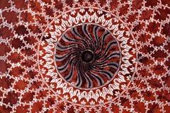 Geometrisch patroon op Taj Mahal Royalty-vrije Stock Fotografie