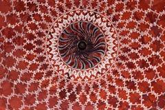 Geometrisch patroon op Taj Mahal Royalty-vrije Stock Afbeelding