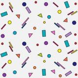 geometrisch patroon op witte achtergrond Stock Afbeelding