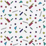 geometrisch patroon op witte achtergrond Stock Fotografie